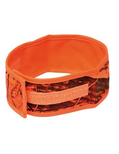 Brassard orange camo 100% polyester...