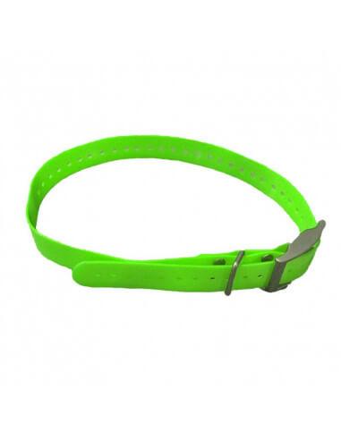 Sangle rechange collier TT15 T5 DC50 Garmin, couleur vert TT15 & couleur jaune T5